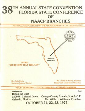 Program cover 38th Annual NAACP Convention State of Florida