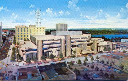 Artists Rendition of the 1986 Orlando Public Library